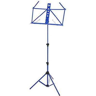 KC 【20個セット】譜面台 軽量アルミ製 MS-2AL/BL ブルー (ソフトケース付) 4534853515481