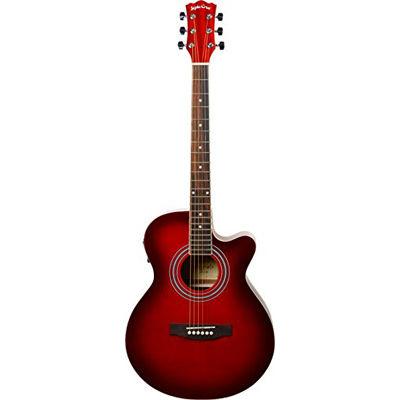 SepiaCrue(セピアクルー) エレクトリックアコースティックギター EAW-01/RDS レッドサンバースト ソフトケース付き 4534853523547
