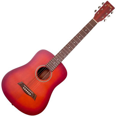 SYAIRI 【6個セット】YM-02/CS ミニアコースティックギター チェリーサンバースト Compact-Acoustic シリーズ YM02CSSC ソフトケース付き 4534853040112