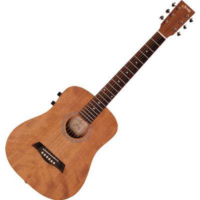 SYAIRI ミニエレアコギター YM-02E/MH マホガニー ソフトケース付き 4534853040211
