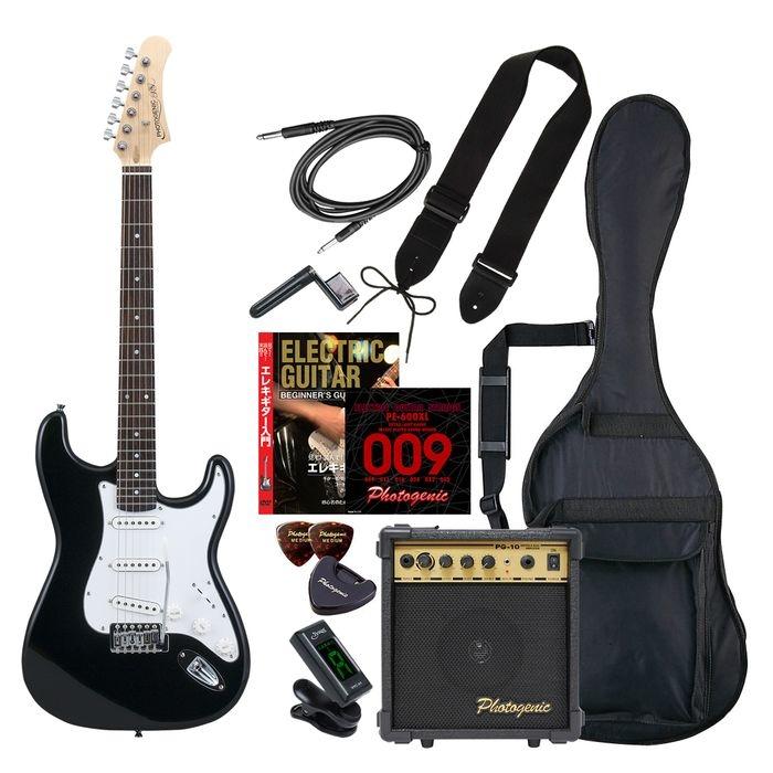 ENTRY ST-180/BK エントリ-セツト フォトジェニック エレキギター エントリーセット ブラック Photogenic ST180BKエントリセツト 4534853531047