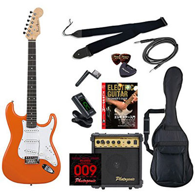 ENTRY ST-180/OR エントリ-セツト フォトジェニック エレキギター エントリーセット オレンジ Photogenic ST180ORエントリセツト 4534853531641
