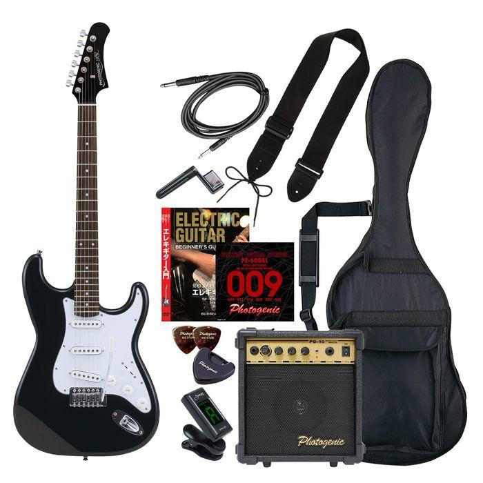 ENTRY ST-180/HBK エントリ-セツト フォトジェニック エレキギター エントリーセット ヘッドブラック Photogenic ST180HBKエントリセツト 4534853532846