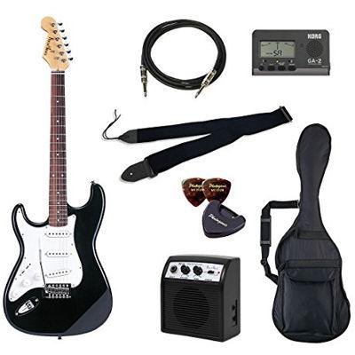 VALUE PhotoGenic エレキギター 初心者入門バリューセット ストラトキャスタータイプ ST-250LH/BK ブラック レフトハンドモデル 4534853068512