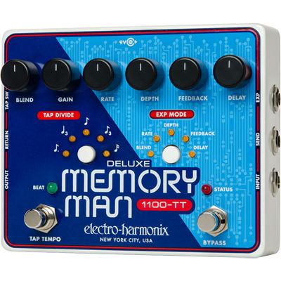 エレクトロ・ハーモニックス Deluxe Memory Man P dale pour Guitare Electrique Argent 0683274011790