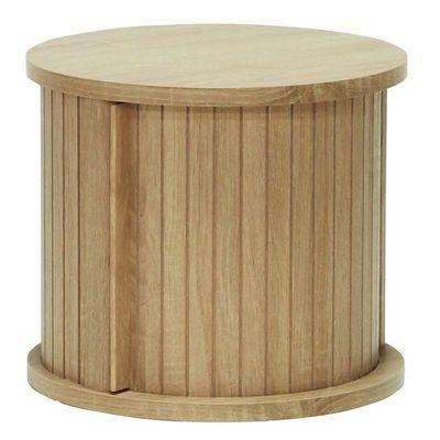 白井産業 ユニークな円柱デザインのアクセント家具 円柱ラック chamos チャモス CMO-3035JNA