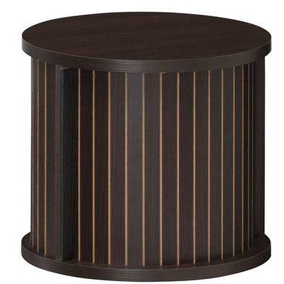 白井産業 ユニークな円柱デザインのアクセント家具 円柱ラック chamos チャモス CMO-3035JDK