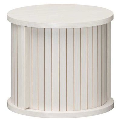 白井産業 ユニークな円柱デザインのアクセント家具 円柱ラック chamos チャモス CMO-3035JWH
