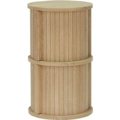 白井産業 ユニークな円柱デザインのアクセント家具 円柱ラック chamos チャモス CMO-6035JBNA