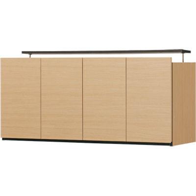 白井産業 壁一面をすっきり高級感のあるリビングに 壁面キャビネット(上置き) PORTALE ポルターレリビング POR-5512DUNA
