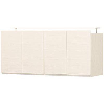 白井産業 壁一面をすっきり高級感のあるリビングに 壁面キャビネット(上置き) PORTALE ポルターレリビング POR-5512DUWH