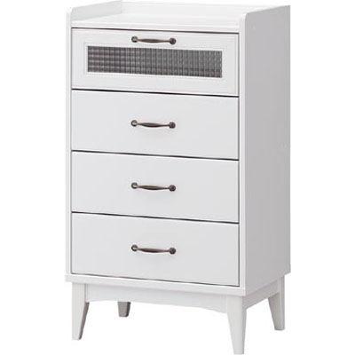 白井産業 レトロモダンの甘さを抑えた白い家具 チェスト Retroa レトロア RTA-9555H