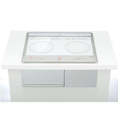 三菱電機 シンプルIH 2口IH 60cmトップ(グリルなし)(ホワイト) CS-G217DXR