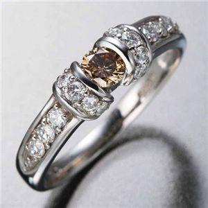 その他 K18WGダイヤリング 指輪 ツーカラーリング 17号 ds-71516