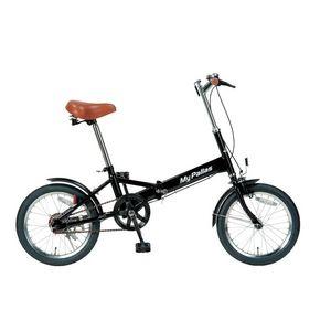 その他 MYPALLAS(マイパラス) 折りたたみ自転車 16インチ M-101BK ブラック ds-160405