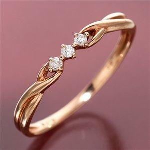 その他 K10/PG ツイストダイヤリング 指輪 184275 15号 ds-191197