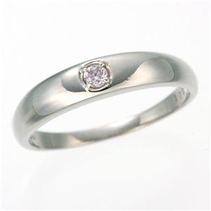 その他 0.05ctピンクダイヤリング 指輪 ストレート 9号 ds-453316