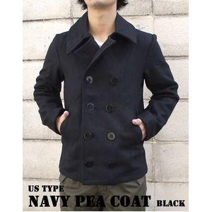 その他 USタイプ海軍 ピーコート JC043YN ブラック 40( L) 【 レプリカ 】 ds-456782