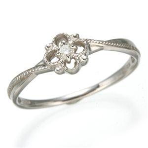 その他 K10 ホワイトゴールド ダイヤリング 指輪 スプリングリング 184282 17号 ds-474211