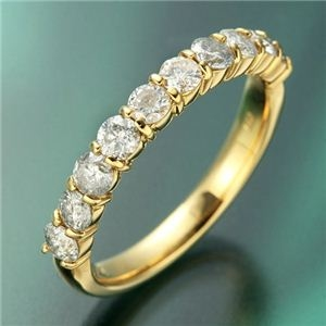 その他 K18YG(イエローゴールド) ダイヤリング 指輪 1.0ctエタニティリング 21号 ds-481268