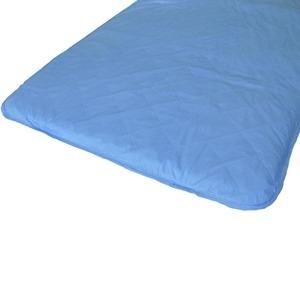 その他 快適な温度帯に働きかける温度調整素材アウトラスト使用 涼感敷パッドシーツ クイーン ブルー 綿100% 日本製 ds-482900