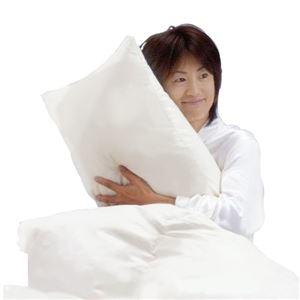 その他 ダウン85%使用ふかふか羽毛枕 大サイズ 綿100% 日本製 ds-499814