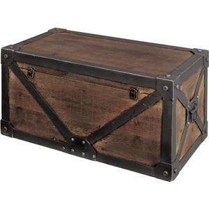 その他 《Traver Furniture》ビンテージ風スタイル トランクM IW-982 ds-690806