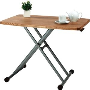 その他 昇降式テーブル/リフティングテーブ 木製/スチール MIP-36NA ナチュラル ds-691083