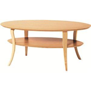 その他 ローテーブル オーバル型 木製 棚収納付き NET-406NA ナチュラル ds-691140