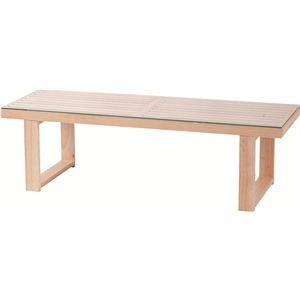 その他 ローテーブル 長方形 木製/強化ガラス製 NET-411NA ナチュラル ds-691144