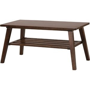 その他 コーヒーテーブル 【モティ】 長方形 木製 棚収納付き RTO-744TBR ブラウン ds-691440