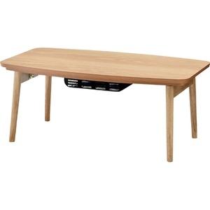 その他 リビングこたつテーブル(フォールディングコタツ) 【Elfi】エルフィ 長方形(90cm×50cm)  Elfi90OAK ds-691644