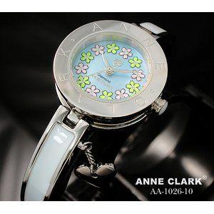 その他 ANNE CLARK(アン・クラーク)レディース腕時計 AA1026-10(文字盤ブルー) 【花柄の文字盤がキュート】   ds-693872