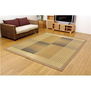 その他 純国産/日本製 掛川織 い草ラグカーペット ベージュ 約200×250cm ds-783906