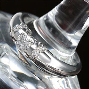 その他 プラチナPt900 /0.28ctダイヤリング 指輪 21号 ds-867555