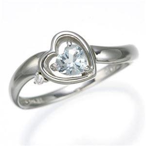 指輪 アクアマリン ds-867754 デザインリング その他 15号