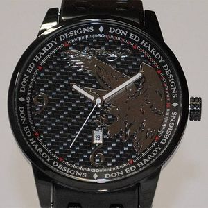 その他 サファリ11月号掲載!エドハーディー腕時計【ED HARDY】Ed Hardy Watch STELLER2シリーズ【ST2-BK】 ds-499831