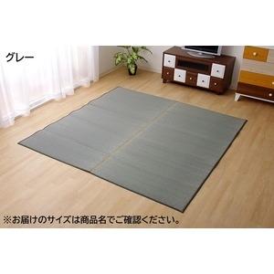 その他 純国産/日本製 い草ラグカーペット 『Fソリッド』 グレー 約191×191cm(裏:ウレタン) ds-785624