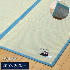その他 純国産/日本製 い草ラグカーペット 『くまモン 温泉』 約200×200cm 正方形 ds-851821