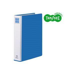 その他 (まとめ)TANOSEE 両開きパイプ式ファイルE A4タテ 40mmとじ 青 30冊 ds-970699