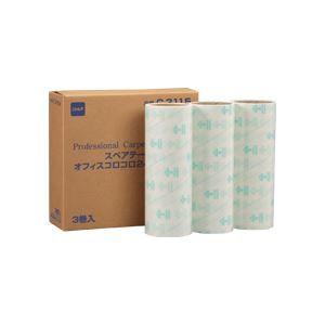 その他 (まとめ)オフィスコロコロ スペアテープ 240mm 3巻×10パック ds-973959