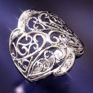 その他 透かし彫りダイヤリング 指輪 19号 ds-1230797
