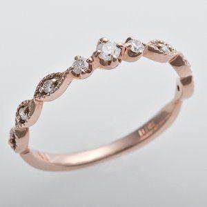 その他 K10ピンクゴールド 天然ダイヤリング 指輪 ピンキーリング ダイヤモンドリング 0.09ct 2号 アンティーク調 プリンセス ds-1244365