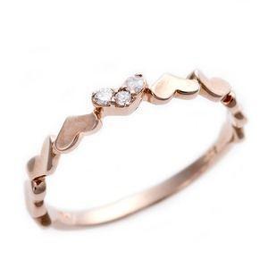 その他 ダイヤモンド ピンキーリング K10 ピンクゴールド ダイヤ0.03ct ハートモチーフ 4号 指輪 ds-1244462