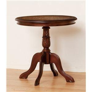 その他 ラウンドテーブル/サイドテーブル 【直径60cm 丸型】 木製 『マルシェ』 アンティーク調 【完成品】 ds-1256028