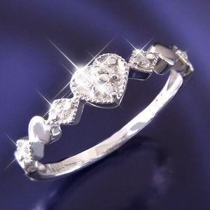 その他 ハートダイヤリング 指輪 セブンストーンリング 15号 ds-1259070