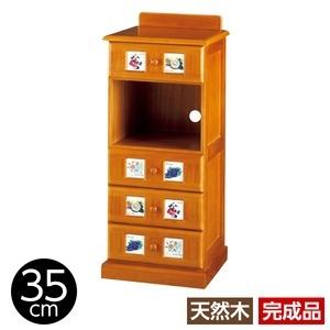 その他 サイドボード/リビングボード (南欧風家具) 【1: 幅35cm】 木製 ライトブラウン 【完成品】 ds-1265521