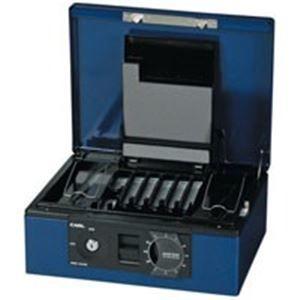 その他 カール事務器 キャッシュボックス CB-8760 ブルー ds-1296579
