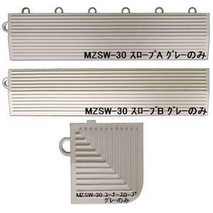 その他 水廻りフロアー サワーチェッカー MZSW-30用 スロープセット セット内容 (本体 60枚セット用) スロープA16本・スロープB16本・コーナースロープ4本 計36本 【日本製】 【防炎】 ds-1284519