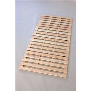 その他 ヒノキ製 四つ折りベッド/寝具 【セミダブル】 約1200×2000×24mm 木製 折りたたみ 湿気対策 〔ベッドルーム 寝室〕 ds-1317045